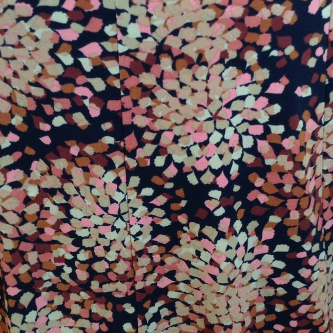 Access a Liz Claiborne Company Skirt Black multi with pink, tan, light brown and dark brown.