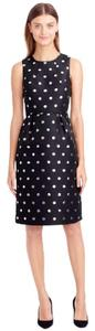 J.Crew short dress Black, Silver on Tradesy
