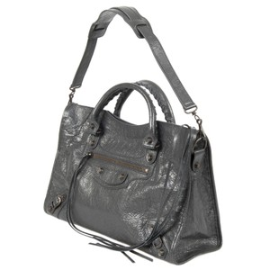 Balenciaga City Classic Satchel Tote in FOSSIL GREY