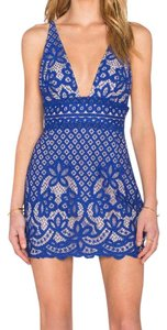 Stylestalker short dress Blue on Tradesy