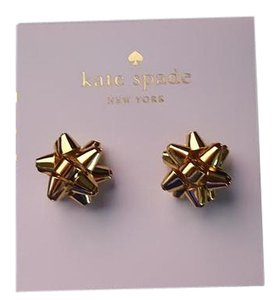 Kate Spade Kate Spade New York Bourgeois Bow in Gold - 12k Stud Earrings-NWT