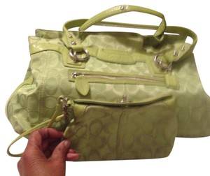 Coach Satchel in lime green