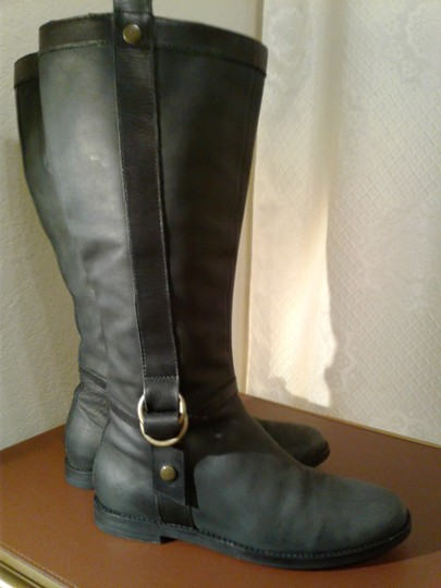 Cole Haan Dull Black Boots