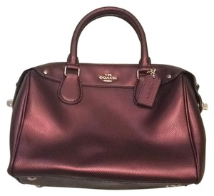 Coach Satchel in red burgundy maroon