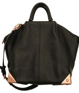 Alexander Wang Bovine Leather Rose Gold Tote in Black