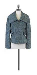 Other Blue & Black Tweed Wool Blend Jacket