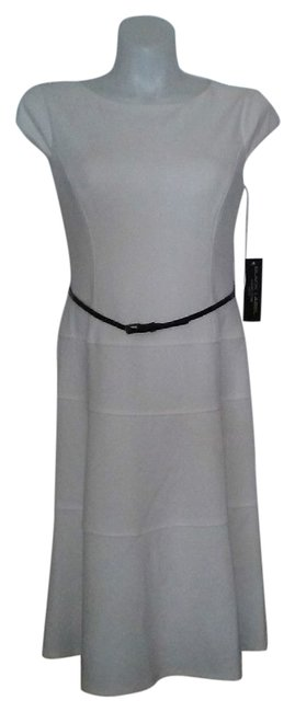 Preload https://item1.tradesy.com/images/evan-picone-white-cap-sleeve-mid-length-night-out-dress-size-6-s-2088425-0-1.jpg?width=400&height=650