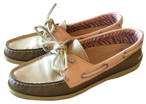 Sperry Brown/Tan/Pink Flats