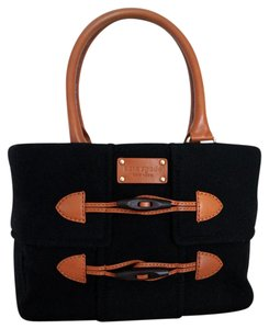 Kate Spade Wool Quinn New York Satchel in black
