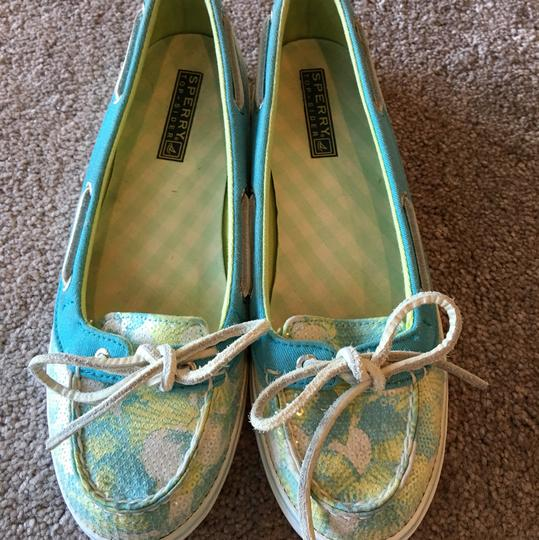 Sperry Blue/Green/White Flats