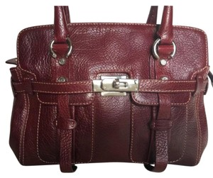 Francesco Biasia Satchel in Burgundy
