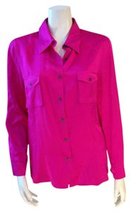 Daryl K Buttondown Silk Top Pink