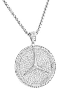 Other Luxury Car Logo Pendant Iced Out Lab Diamonds Pave Set 24