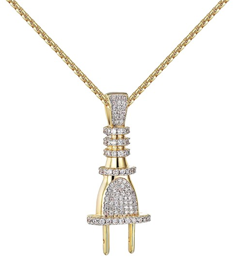 Preload https://img-static.tradesy.com/item/20884400/switch-plug-pendant-14k-yellow-gold-socket-iced-out-free-chain-charm-0-1-540-540.jpg
