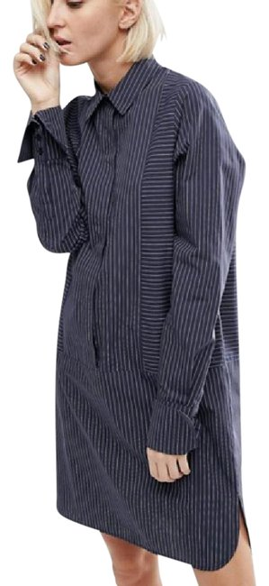 Preload https://img-static.tradesy.com/item/20884402/asos-navy-cotton-with-oversized-cuff-in-pinstripe-nw-mid-length-short-casual-dress-size-8-m-0-1-650-650.jpg