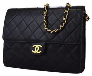 Chanel Quilted Lambskin Vintage Classic European Shoulder Bag