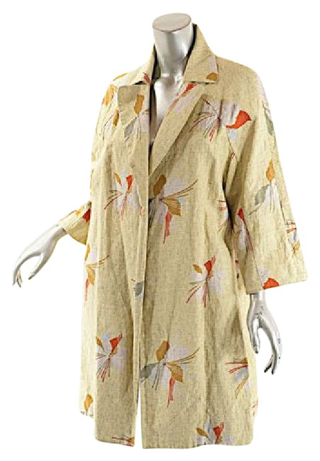Preload https://img-static.tradesy.com/item/20884456/marni-beige-with-multi-color-cottonlinen-blend-34-sleeve-tan-duster-abstract-print-spring-jacket-siz-0-1-650-650.jpg