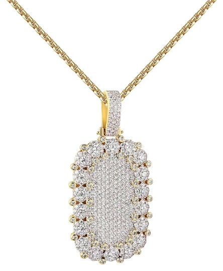 Preload https://img-static.tradesy.com/item/20884475/cluster-set-dog-tag-pendant-full-iced-out-hip-hop-20-chain-charm-0-1-540-540.jpg