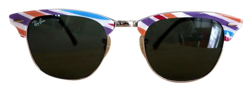 89606df6c0584 Ray-Ban Multi Stripe Rb 3016 Clubmaster Sunglasses - Tradesy