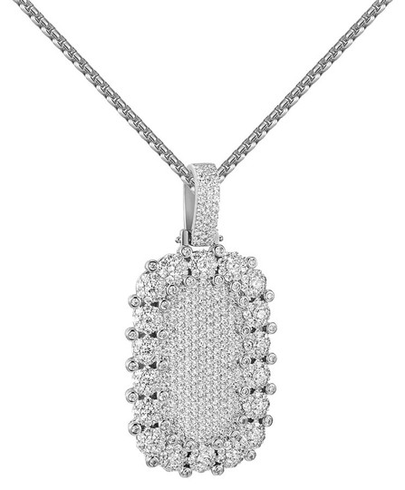 Preload https://img-static.tradesy.com/item/20884492/iced-out-dog-tag-pendant-cluster-set-simulated-diamonds-box-chain-charm-0-1-540-540.jpg