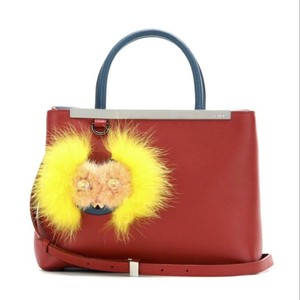 Fendi Bugs Monster Leather Tote in Red