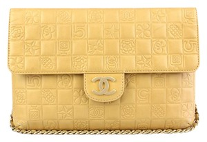 Chanel Exclusive Leather Monogram Lambskin Vintage Shoulder Bag
