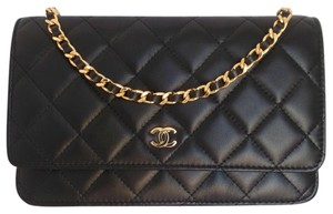 Chanel Woc Wallet On Chain Classic Flap Black Clutch