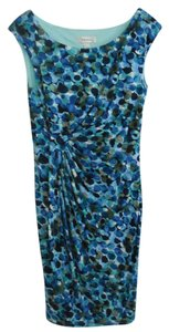 dressbarn short dress MULTI-BLUES Stunning Watercolors Flattering Versatile on Tradesy