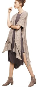 Anthropologie Frayed Edge Wrap Duster Cape