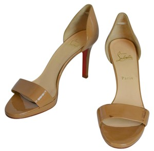 Christian Louboutin Leather Red Bottoms Louboutin Beige Sandals