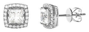 Other 3.44 CTTW 18K White Gold Asher Cut Halo Swarovski Elements #8303