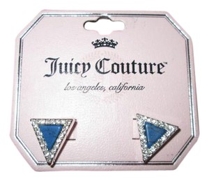 Juicy Couture Juicy couture diamond shaped earrings blue and clear stone color