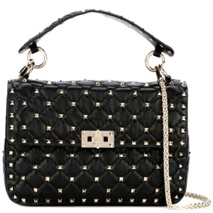 Valentino Spike Leather Shoulder Bag