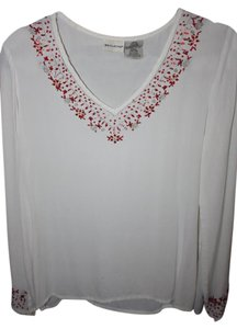 White Stag Top white/red