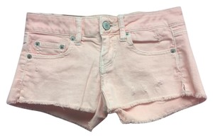 American Eagle Outfitters Stretch Fringed Mini/Short Shorts Pink