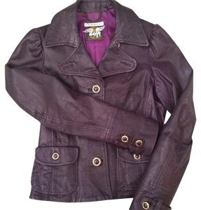 Replay Plum Leather Jacket
