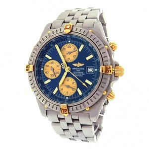 Breitling Breitling Crosswind B13355 Chronograph Stainless Steel 18k Yellow Gold
