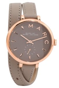 Marc by Marc Jacobs NWT Marc Jacobs Sally Gray & Rose Gold Tone Leather Double Wrap Watch