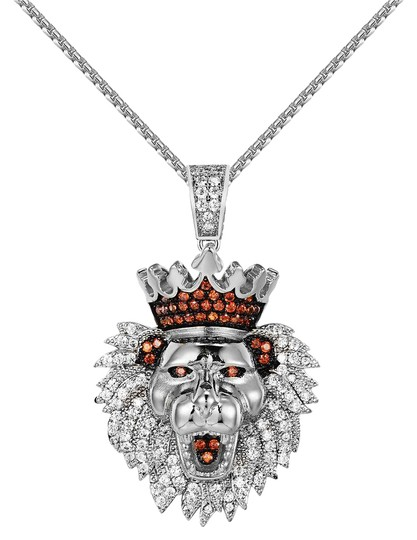 Preload https://img-static.tradesy.com/item/20885065/iced-out-king-lion-head-pendant-stainless-steel-chain-24-inch-charm-0-1-540-540.jpg