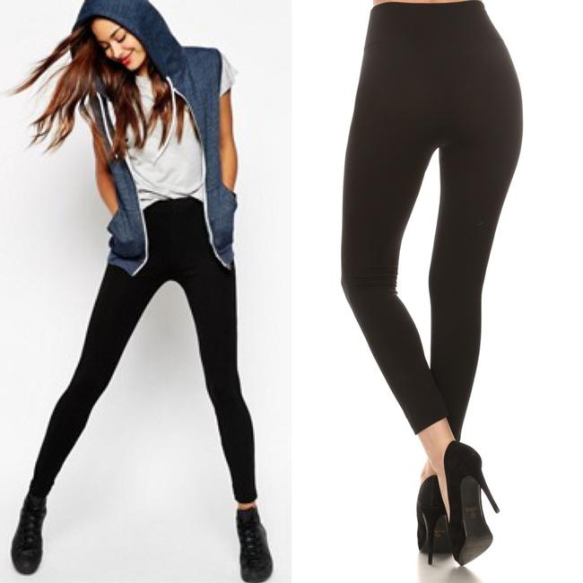 Other One Size Fleece Comfortable Vegan Black Leggings