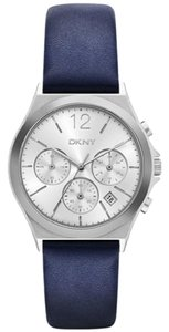 DKNY New DKNY Women's Parsons Blue Leather and Stainless-Steel Watch NY2476