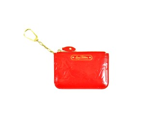 Louis Vuitton Pochette Cles Vernis Monogram Patent Leather Credit Coin Purse Chain