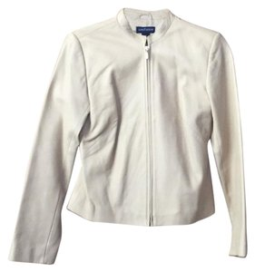 Ann Taylor Ivory leather Jacket