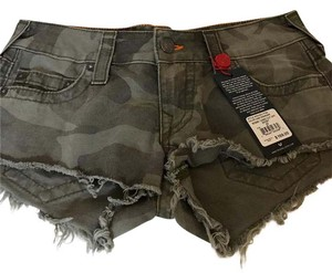 True Religion Cut Off Shorts camo