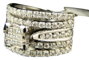 Other 14K White Gold Bridal Princess Cut Diamond Engagement Ring 1.65 Ct