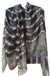 Other NWT oversized semisheer print scarf