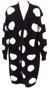 Pollini Long Sleeve Wrap Long Polka Dot Sweater