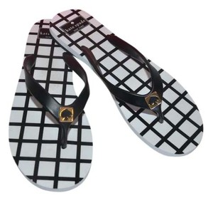 Kate Spade white black Sandals
