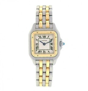 Cartier Cartier Panthere 1120 Stainless Steel and Gold Quartz Ivory Ladies