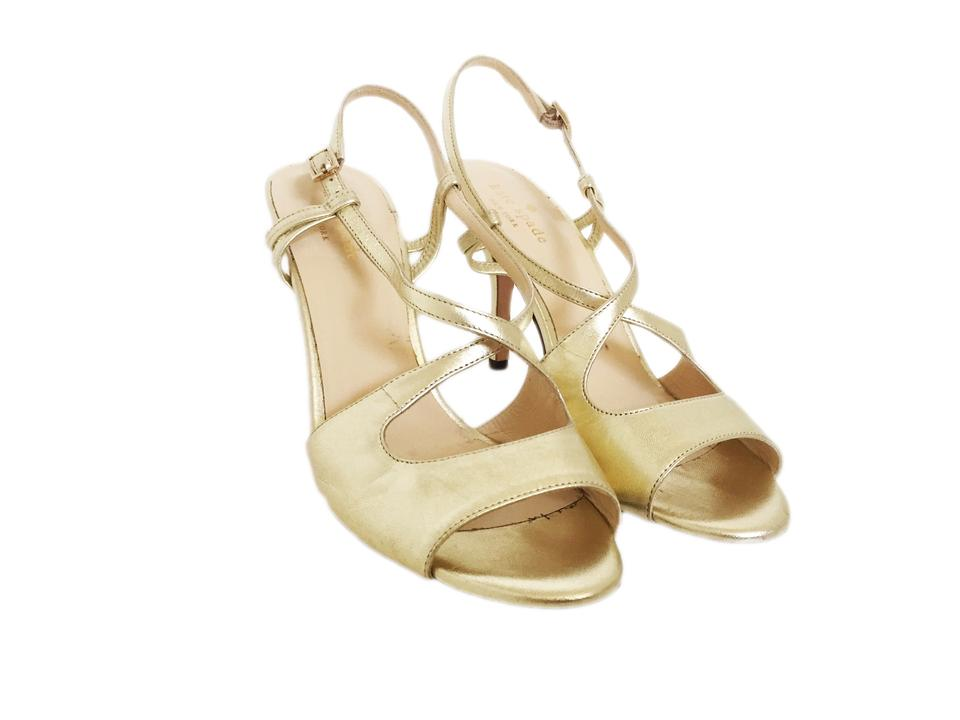 95fa0d6b6 Kate Spade Gold Strappy Sandals Size US 7 Regular (M